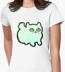 Minty Kitty Womens Fitted T-Shirt