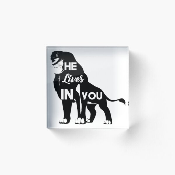 He Lives in You - Lion King Acrylic Block