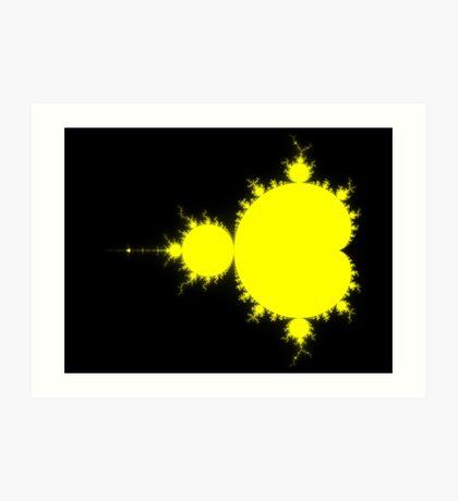 Yellow & Black Mandelbrot Art Print