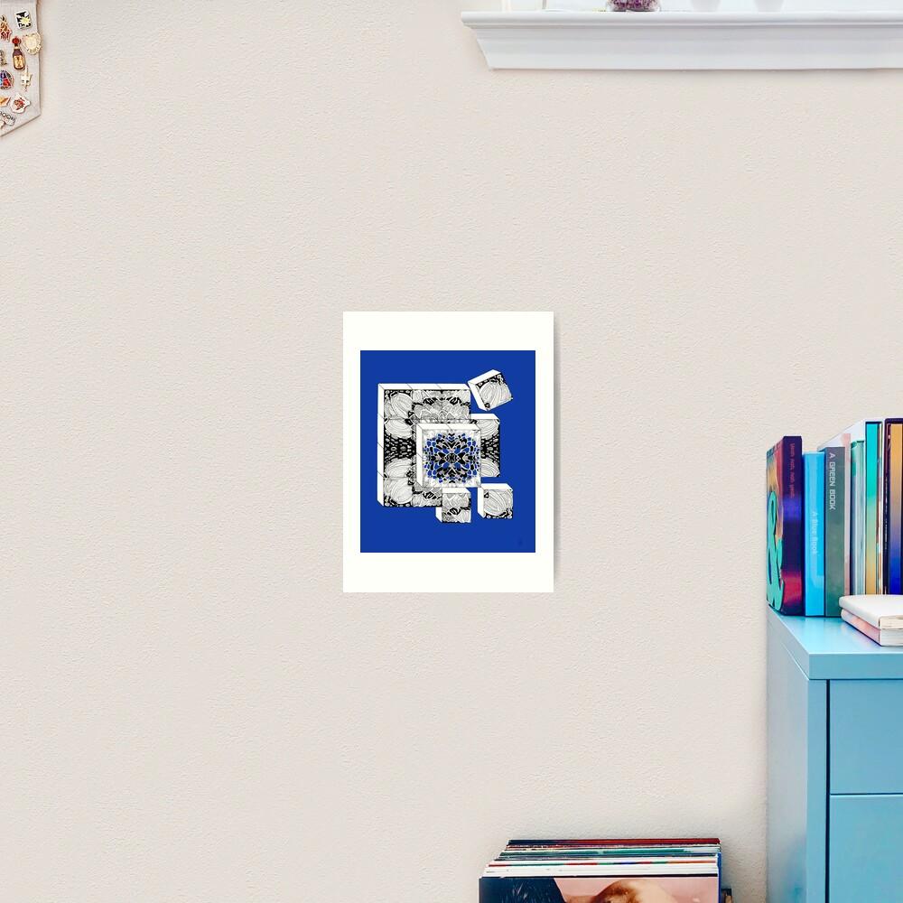 Die Würfel in königsblau - Dices in royal blue Kunstdruck