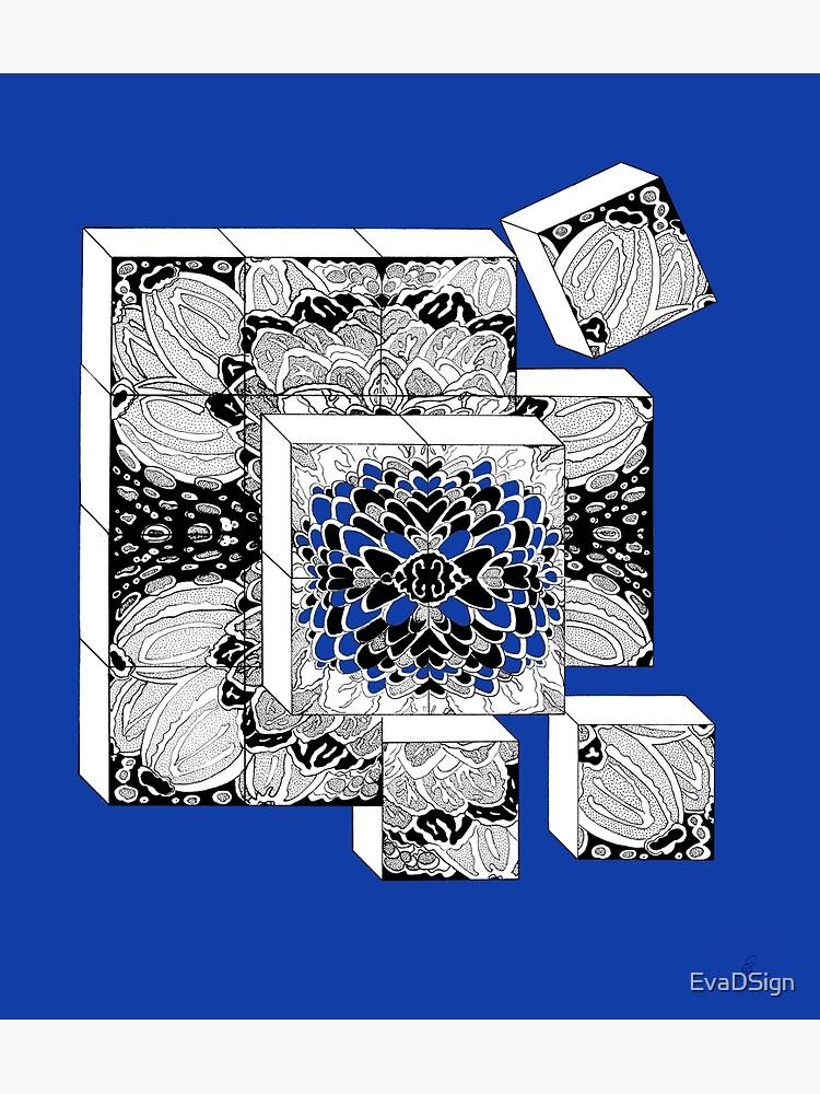 Die Würfel in königsblau - Dices in royal blue von EvaDSign