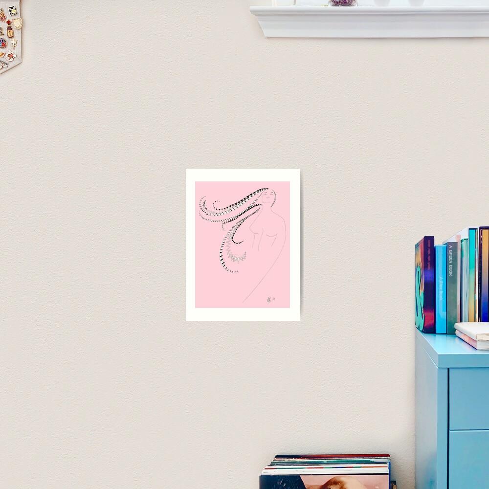 Ballerina auf rosa Hintergrund - Ballerina in pink Kunstdruck