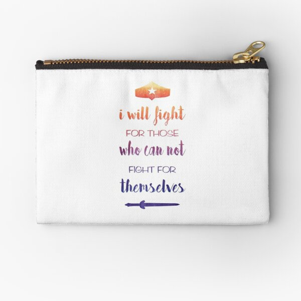 I Will Fight For Those Who Can Not Fight For Themselves Zipper Pouch