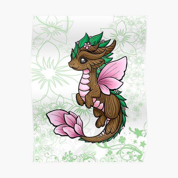 Flower Dragon Elemental Poster