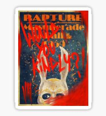 Rapture Masquerade Ball 1959 - Bioshock Would You Kindly? Horror Sticker