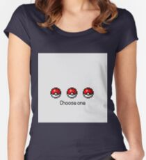 Pokeball Desing Choose One Women's Fitted Scoop T-Shirt
