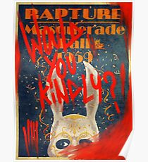 Rapture Masquerade Ball 1959 - Bioshock Would You Kindly? Horror Poster