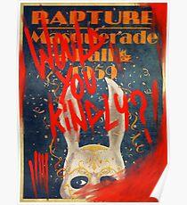 Rapture Masquerade Ball 1959 - Bioshock würden Sie freundlich? Grusel Poster