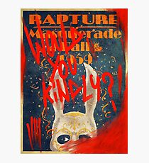 Rapture Masquerade Ball 1959 - Bioshock Would You Kindly? Horror Photographic Print