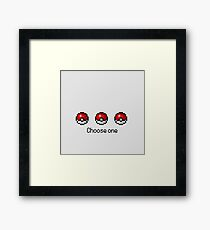 Pokeball Desing Choose One Framed Print