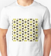 Chunky White and Lime Daisies on Black Unisex T-Shirt