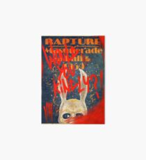 Rapture Masquerade Ball 1959 - Bioshock Would You Kindly? Horror Art Board
