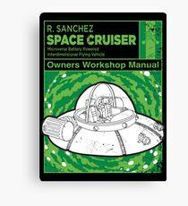 Space Cruiser Workshop Manual Canvas Print