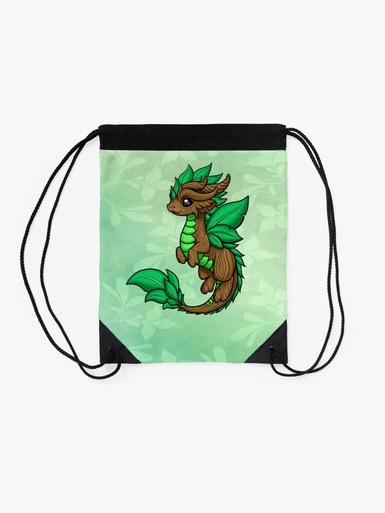Alternate view of Earth Dragon Drawstring Bag