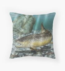 River Brown - Brown Trout Throw Pillow