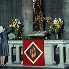 Altar attendant Cathedral Lausanne Switzerland 19840817 0017  by Fred Mitchell