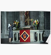 Altar attendant Cathedral Lausanne Switzerland 19840817 0017  Poster