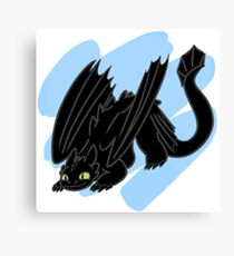 Toothless is Ready to Pounce! Canvas Print