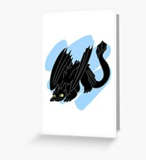 Toothless is Ready to Pounce! Greeting Card
