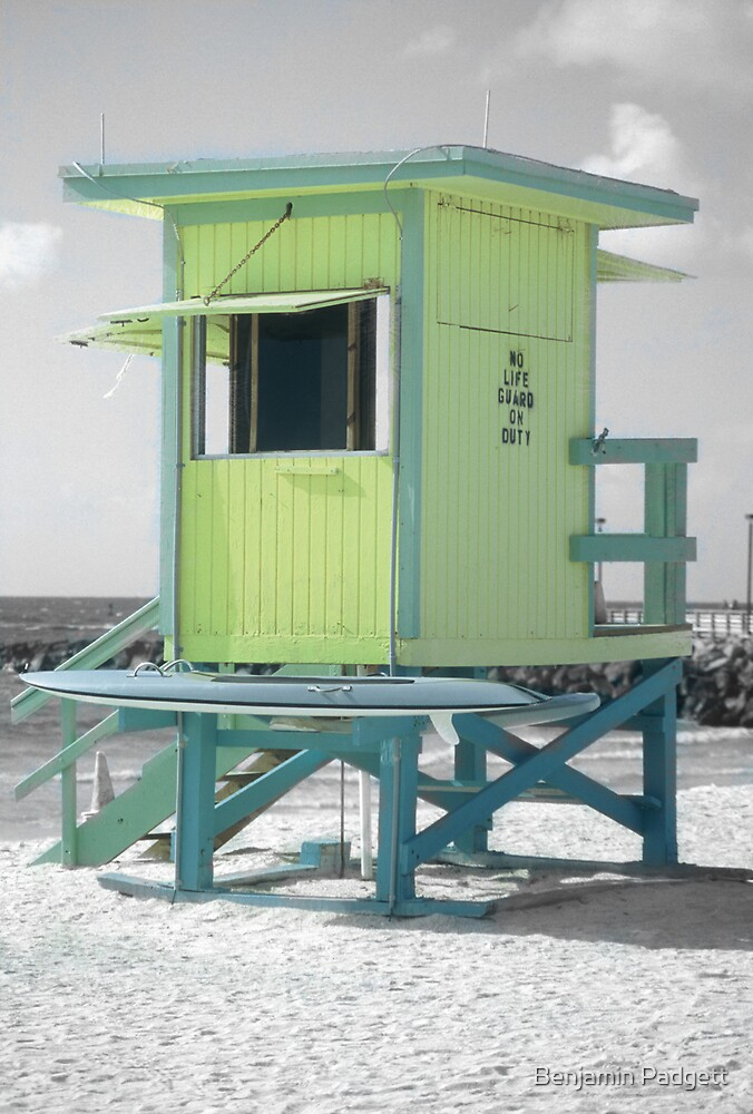 No Life Guard On Duty, South Beach by Benjamin Padgett