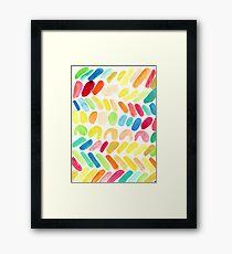 Color Hash Framed Print
