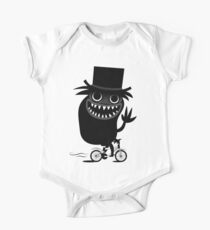 Babadook Likes Bicycle Short Sleeve Baby One-Piece