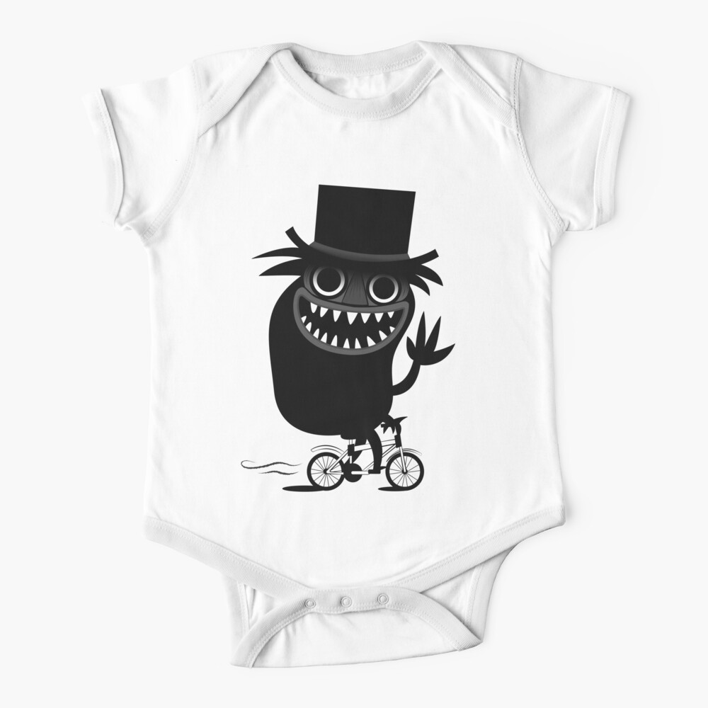 Babadook Likes Bicycle Baby One-Piece
