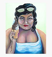 Ice Cream Betty is Too Good For the Fair Photographic Print