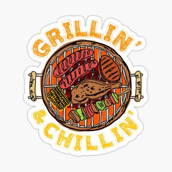 BBQ Barbeque Grillin' and Chillin' Sticker