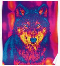Trippy Wolf Poster