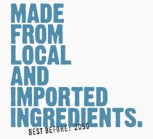 ingredients: local and imported