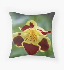 Yellow & Red Flower Throw Pillow