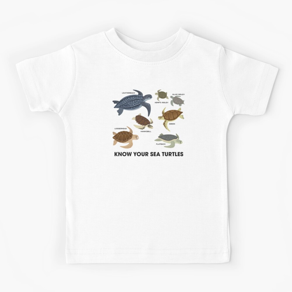 Know Your Sea Turtles Kids T-Shirt