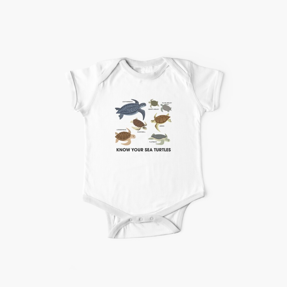Conozca a sus tortugas marinas Body para bebé