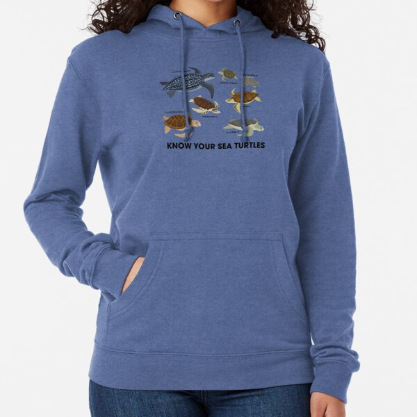 Know Your Sea Turtles Lightweight Hoodie