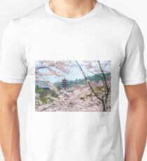 Miyajima Island Cherry Blossoms Unisex T-Shirt