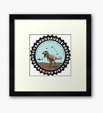T Rex Fight Club Framed Print