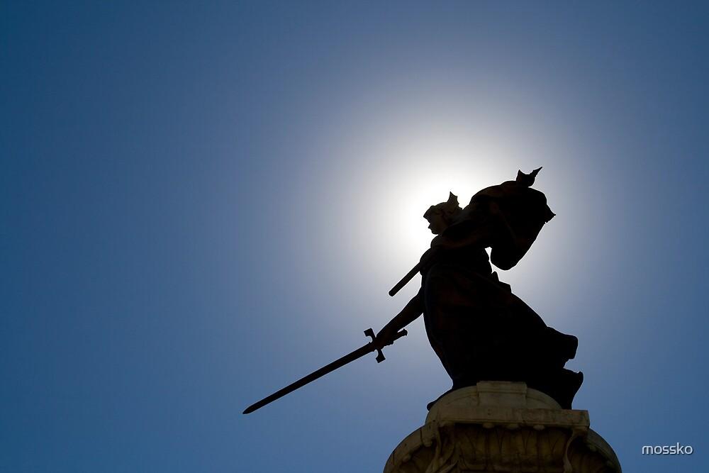 Lady with sword by mossko