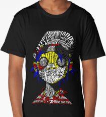 2-D Gorillaz Typography Drawing Long T-Shirt