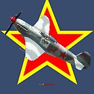 Red Star Yakovlev Yak-9 VH-YIX Design by muz2142