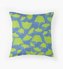 Ginkgo Leaves Throw Pillow