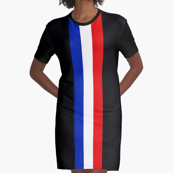 Red White and Blue Graphic T-Shirt Dress