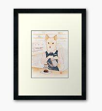 Barista Shiba Sakurako Framed Print