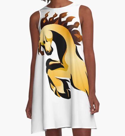 Golden Charger A-Line Dress