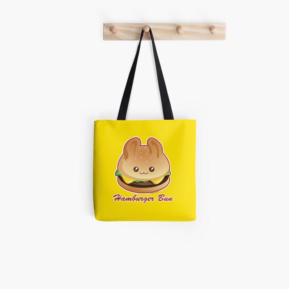 Punny Buns: Cute Hamburger Bunny Tote Bag