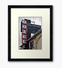 Hollywood Motel Framed Print