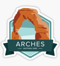 Arches National Park Graphic Badge Sticker