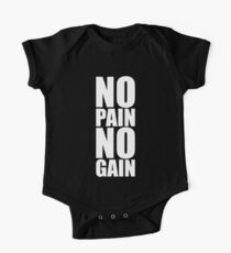 No pain no gain... Gym Motivational Quote One Piece - Short Sleeve