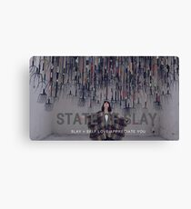 State Of Slay Rakes With Font Canvas Print