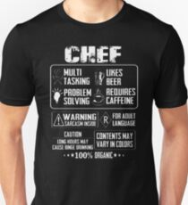 Chef baker sweetface bakery chef child cool chef T-Shirt  Unisex T-Shirt